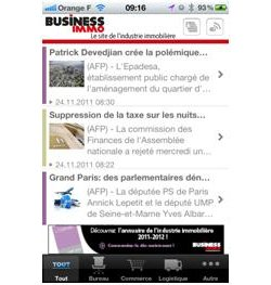 Business Immo lance une version enrichie  de son application mobile sur Iphone et Ipad